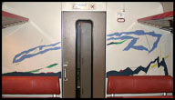 Train compartment partition painting 1, 1986-87