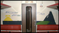 Train compartment partition painting 2, 1986-87