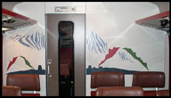 Train compartment partition painting 3, 1986-87