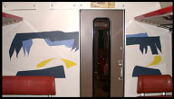 Train compartment partition painting 5, 1986-87